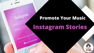Promote music on Instagram stories