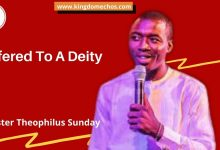 Offered To A Deity Theophilus Sunday
